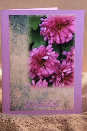 WaterColour Bkg. Purple Mums
