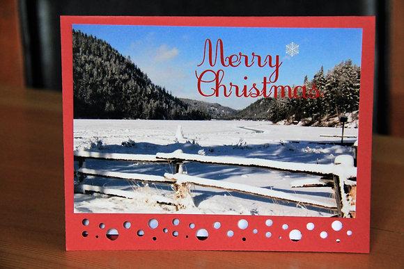 Frozen Lake Merry Christmas