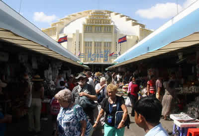 Marché central de Phnom Penh