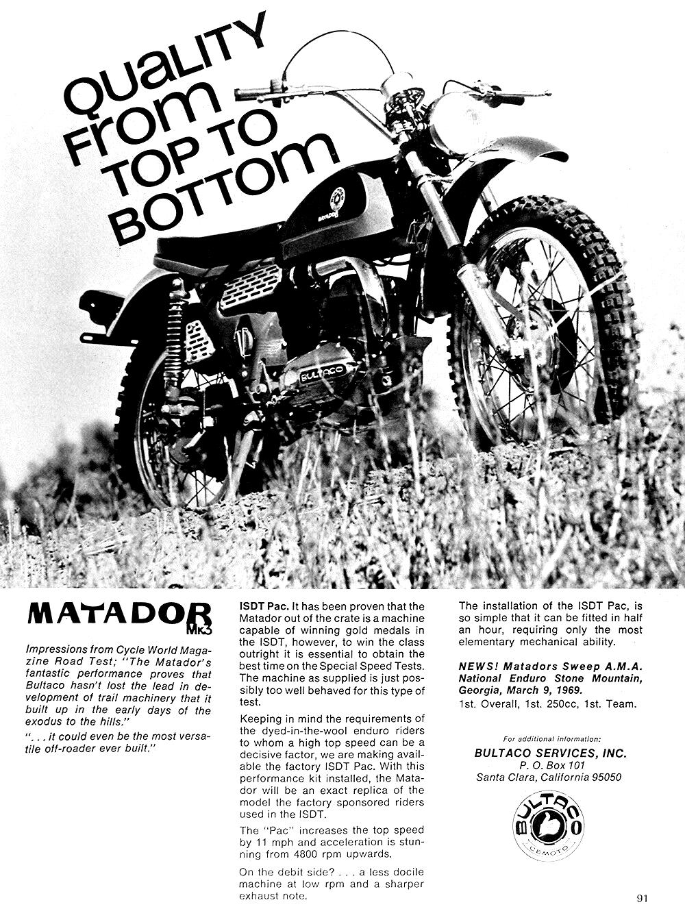 Bultaco Matador Mk3 Ad