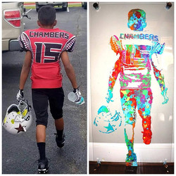Football Player Painting