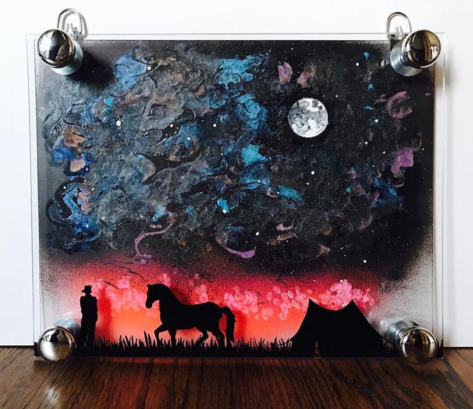 Galaxy Sky and Cowboy