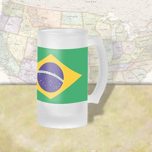 Brazil Flag Beer Mug
