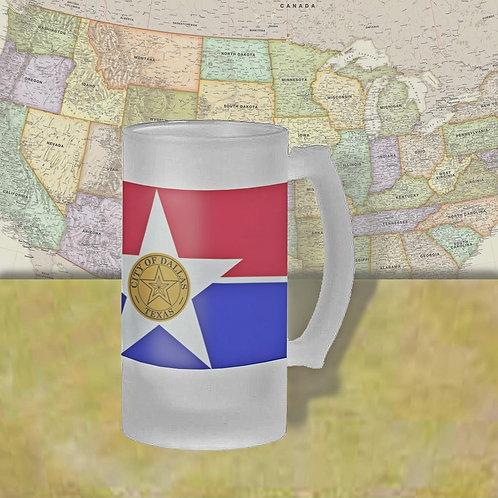 Dallas, TX City Flag Beer Mug