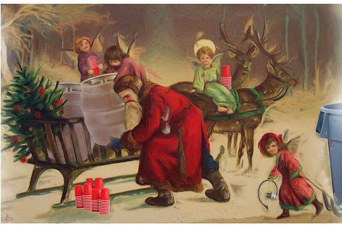 """""""Fine"""" Art Tee - Christmas Beer Angels"""
