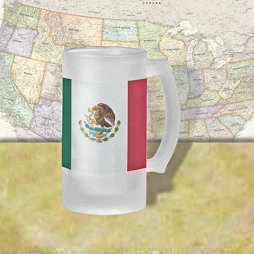 Mexico Flag Beer Mug