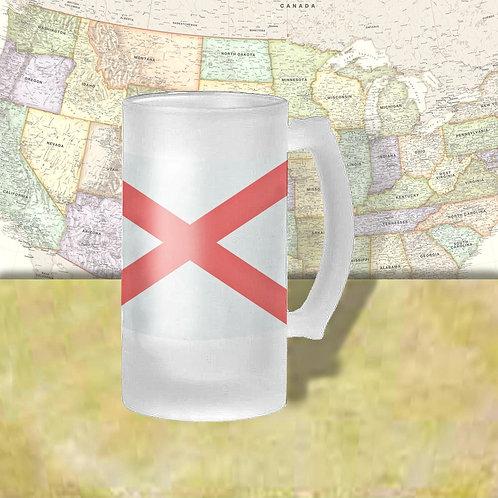 Alabama State Flag Beer Mug