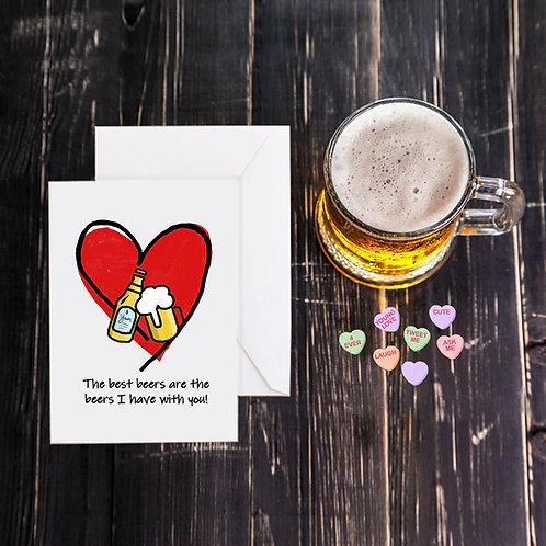 Valentine Beer Greeting Card - Best Beers