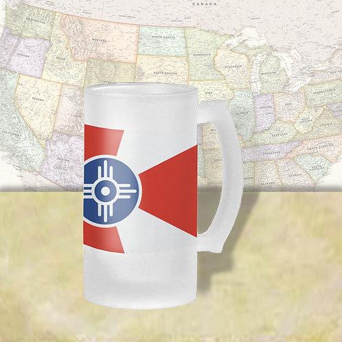 Wichita, KS City Flag Beer Mug