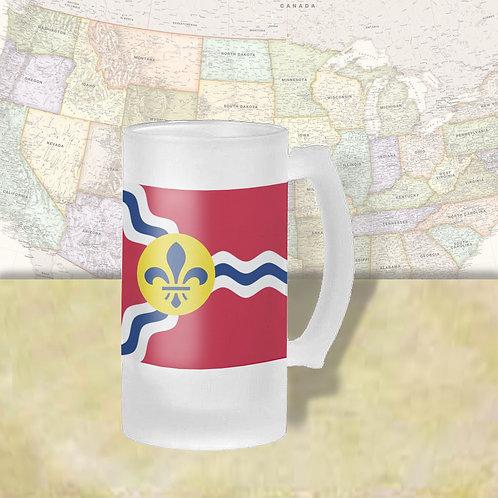 St. Louis, MO City Flag Beer Mug