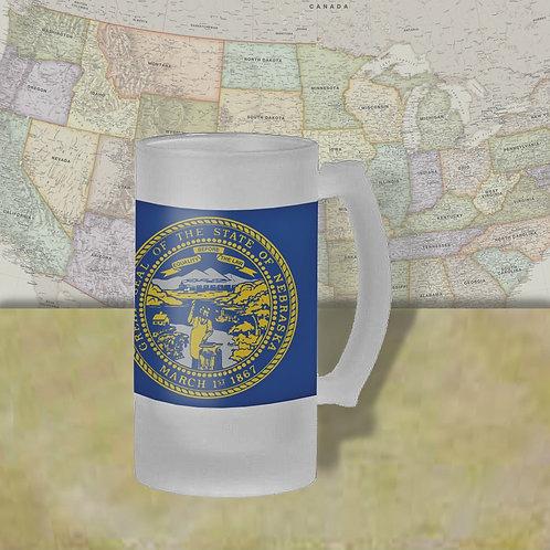Nebraska State Flag Beer Mug