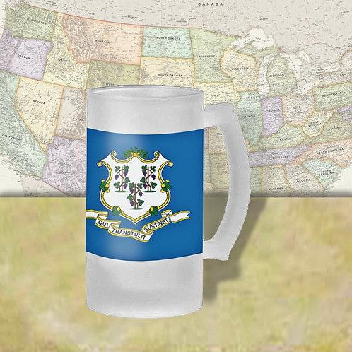 Connecticut State Flag Beer Mug