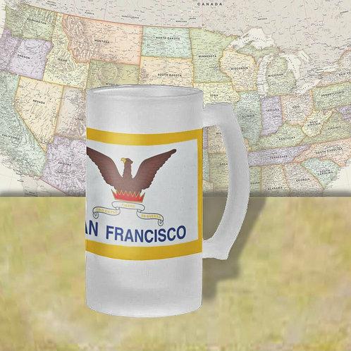 San Francisco, CA City Flag Beer Mug