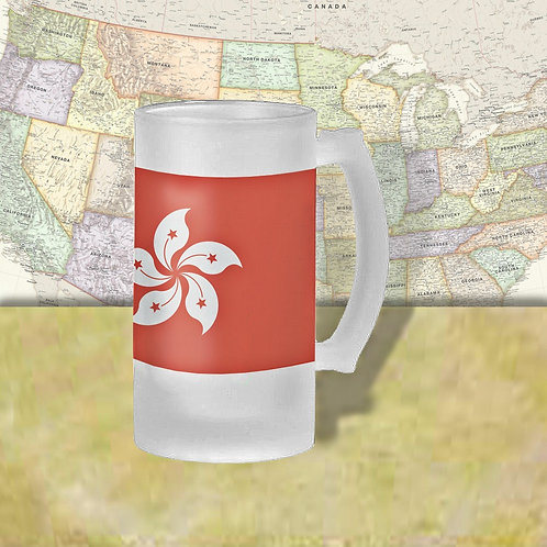 Hong Kong Flag Beer Mug