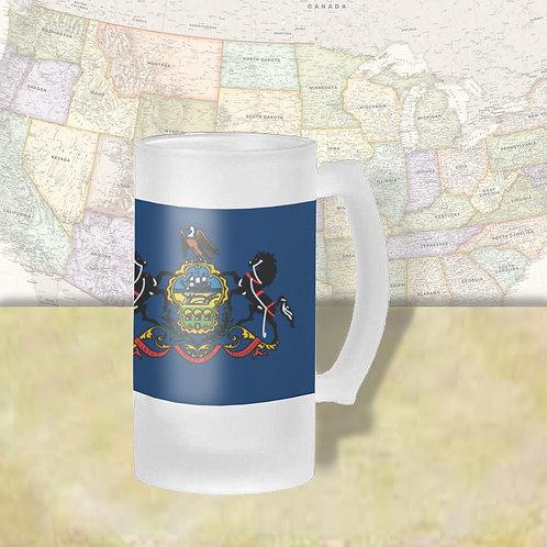 Pennsylvania State Flag Beer Mug