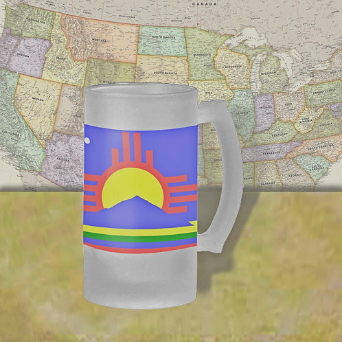 Roswell, NM City Flag Beer Mug
