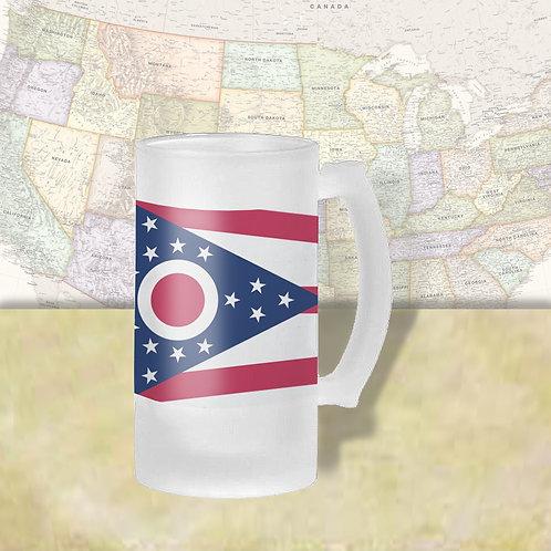 Ohio State Flag Beer Mug