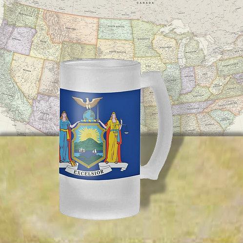 New York State Flag Beer Mug