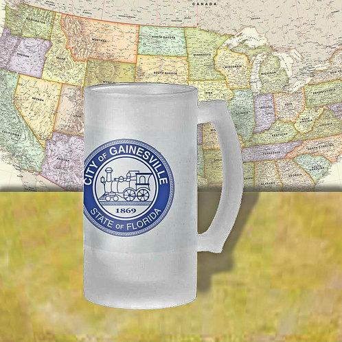 Gainesville, Florida City Flag Beer Mug