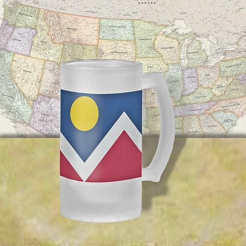 Denver, CO City Flag Beer Mug