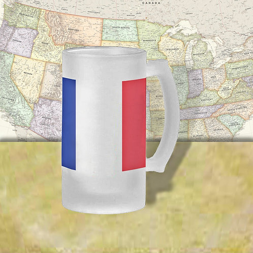 France Flag Beer Mug