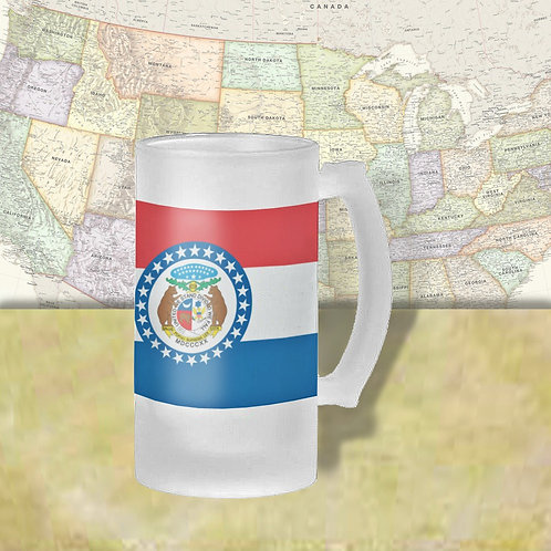 Missouri State Flag Beer Mug