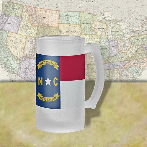 North Carolina State Flag Beer Mug