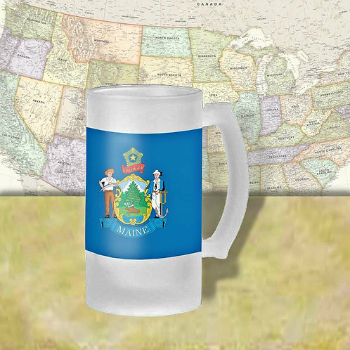 Maine State Flag Beer Mug