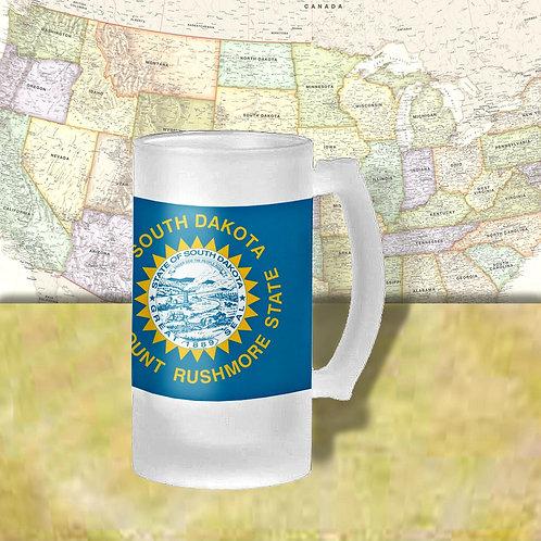 South Dakota State Flag Beer Mug