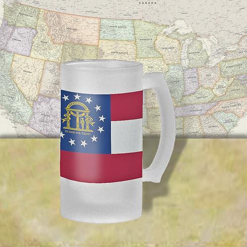Georgia State Flag Beer Mug