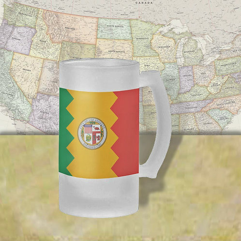 Los Angeles, CA City Flag Beer Mug