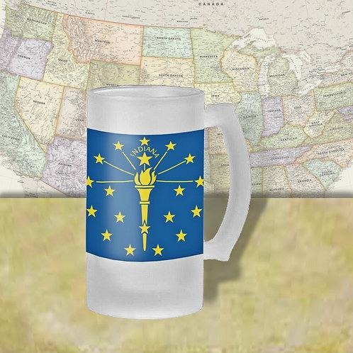 Indiana State Flag Beer Mug