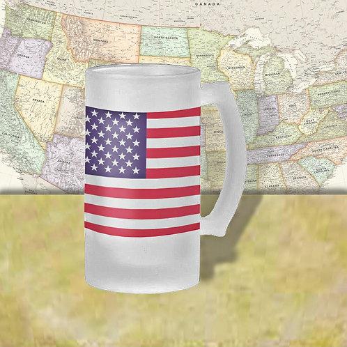 United States Flag Beer Mug