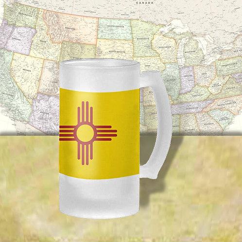 New Mexico State Flag Beer Mug
