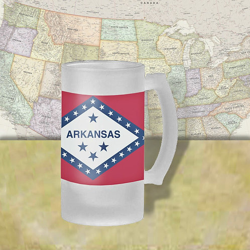 Arkansas State Flag Beer Mug