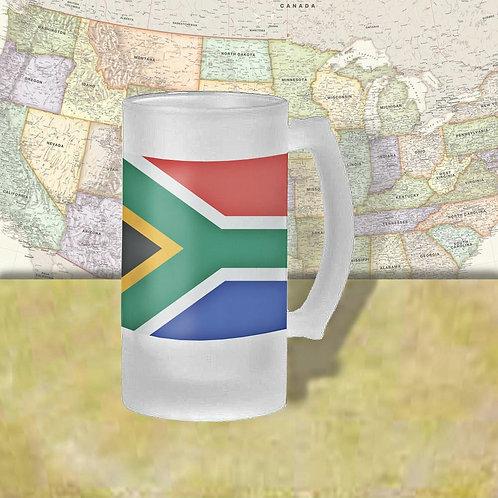 South Africa Flag Beer Mug