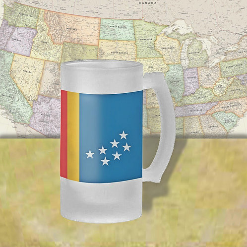 Durham, NC City Flag Beer Mug
