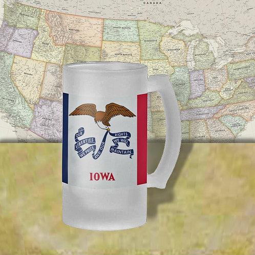 Iowa State Flag Beer Mug