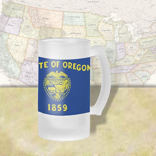 Oregon State Flag Beer Mug