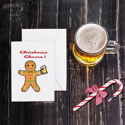 Christmas Beer Greeting Card -Christmas Cheer
