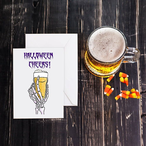 Halloween Beer Greeting Card - Cheers