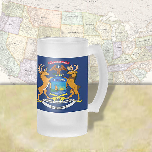 Michigan State Flag Beer Mug