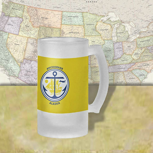 Anchorage Alaska City Flag Beer Mug