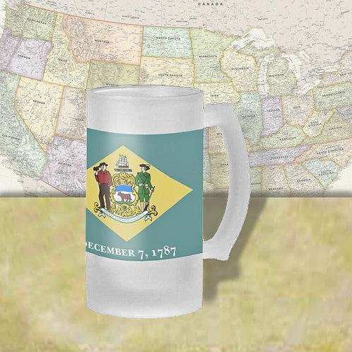 Delaware State Flag Beer Mug