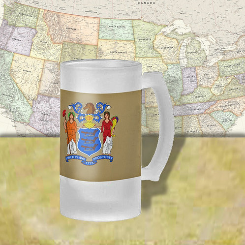 New Jersey State Flag Beer Mug