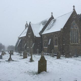 Snowy St Peter's, Eype