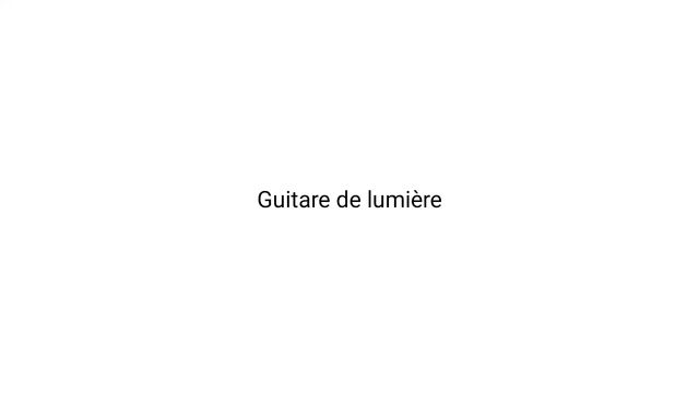 GUITARE DE LIMIÉRE. Glow in the Dark.