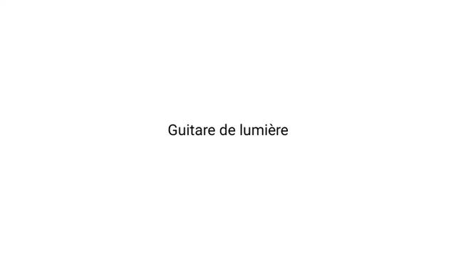 GUITARE DE LIMIÉRE. Glow in the Dark.
