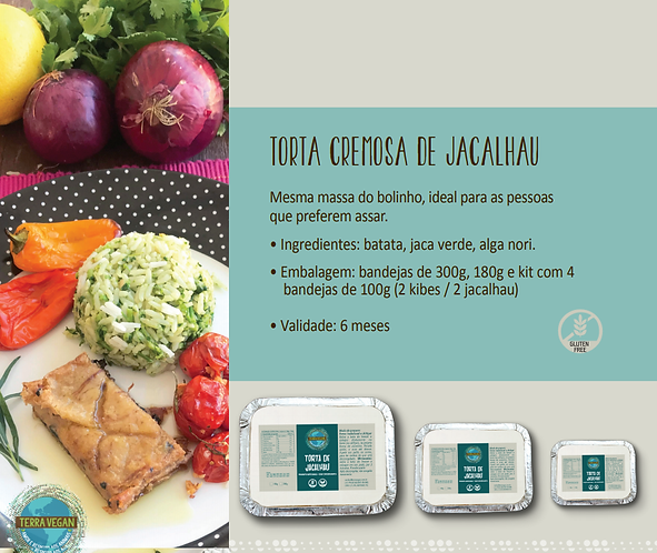 Torta cremosa de Jacalhau  -  Terra Vegan