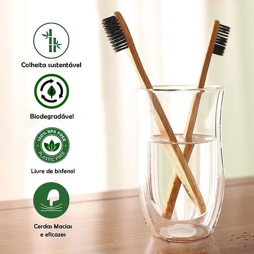 Escova de dente de bambu Infantil
